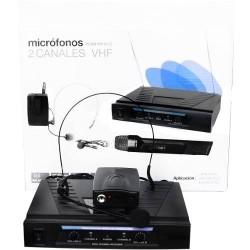 234201-MLM20294597823_052015,Set De Microfonos:solapa,diadema Y De Mano Inhalambricos 80m