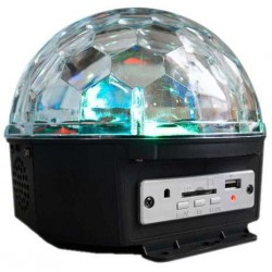 Esfera Disco Luz Rgb  Entradas Usb Sd Y Reproductor Mp3 Wow