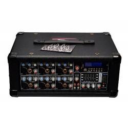 Super Mezcladora Profesional De 6 Canales Amplificada 1600w