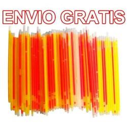533221-MLM20747369646_062016,Envio Gratis 100 Varitas De Neon Especial Para Fiestas Vecc.