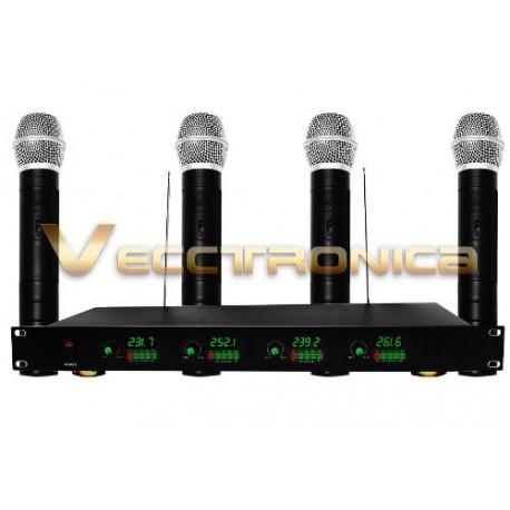 477321-MLM20761729804_062016,Fabuloso Set De 4 Microfonos Inalambricos Con Receptor Wow.