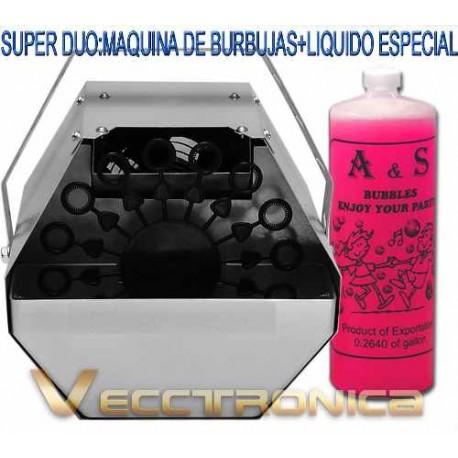 297321-MLM20771687788_062016,Super Promocion: Maquina De Burbujas Gratis Liquido Especial