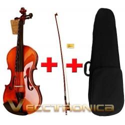 644521-MLM20778971695_062016,Hermoso Violin De Madera Tallada A Mano Con Barniz Especial.