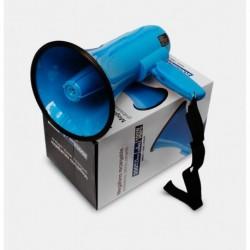 Megáfono Sirena Y Grabadora Recargable Portátil Resistente