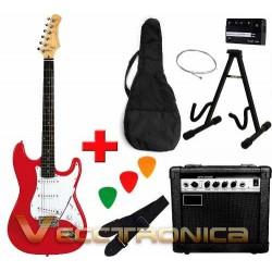 309421-MLM20782602628_062016,Paquete Rockstar: Guitarra Electrica+ Amplificador+plumillas