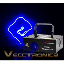 Increible Laser Multiformas Azul Con Efectos En Movimientos.