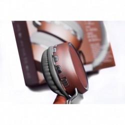 Audifonos Wireless Bluetooth Acabado Metálico Silver/golden