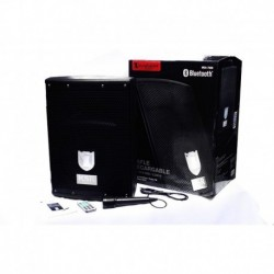 Bocina 8puLG Recargable Con Bluetooth Fm Puertos Usb/sd Mic