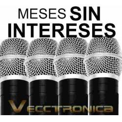 558421-MLM20789157262_062016,Vecctronica:fabuloso Set Karaoke De 4 Microfonos C/receptor.