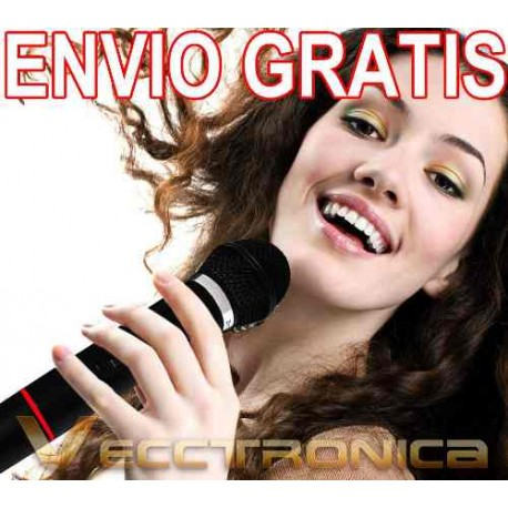 994421-MLM20792605082_062016,Envio Gratis Microfonos Profesionales Con Receptor Wow Vecc.