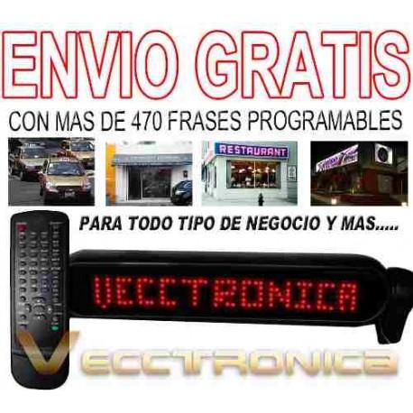133521-MLM20798983670_072016,Envio Gratis Novedoso Letrero Programable Con Leds Wow Vecc