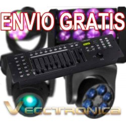 Envio Gratis Genial Controlador De Luces Dmx C/ Joystic Vecc