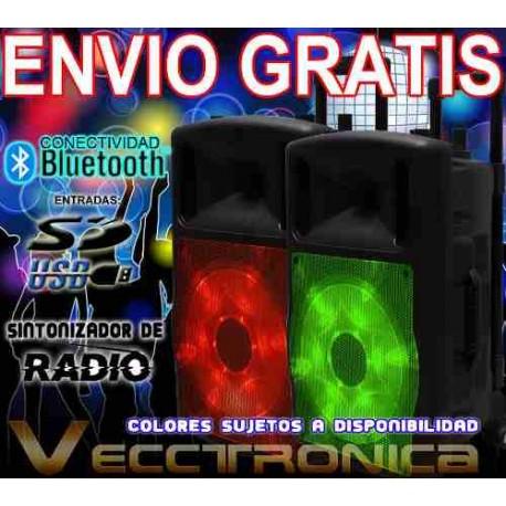 830621-MLM20801152727_072016,Envio Gratis Bafle 12 Recargable Con Hyper Leds Rgb Wow Vecc