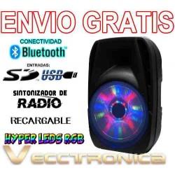 Envio Gratis Bafle 15 Recargable Con Hyper Leds Rgb Wow Vecc