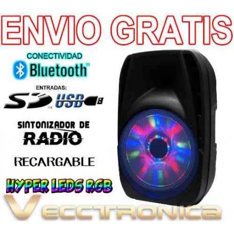 199521-MLM20803449207_072016,Envio Gratis Bafle 15 Recargable Con Hyper Leds Rgb Wow Vecc