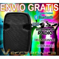 795621-MLM20803545433_072016,Envio Gratis Bafle 15 Recargable By Steelpro+regalazos Vecc