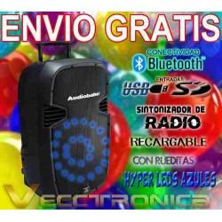 274621-MLM20803705373_072016,Envio Gratis Genial Bafle Recargable Hyper Leds Azules Vecc