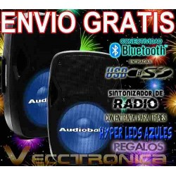 Envio Gratis Combo De Bafles By Audiobahn + Regalos Wow Vecc