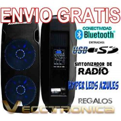 839521-MLM20803996567_072016,Envio Gratis Bafle 2x15 By Audiobahn Con Leds+regalos Vecc