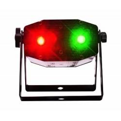 Laser  Bicolor Con Multifiguras 3d Audioritmico Y Secuencial