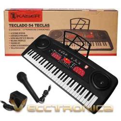 245015-MLM25132305227_102016,Sensacional Teclado Musical By Kaiser Con 54 Teclas Genial.