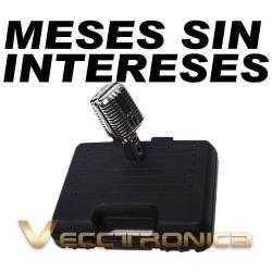 Vecctronica:microfono Retro Estilo Elvis De Metal Cromado...