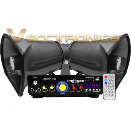 446315-MLM25232827183_122016,Combo Especial De Perifoneo Con Amplificador+ Trompetas Wow.