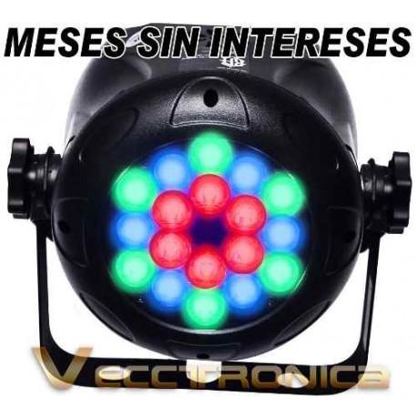 694215-MLM25173535326_112016,Vecctronica: Panel De Luminacion Par Rgb 18 Super Potencia.