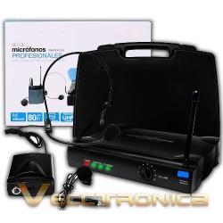 370215-MLM25183037656_112016,Microfonos Profesionales De Diadema Y De Solapa Con Maletin.