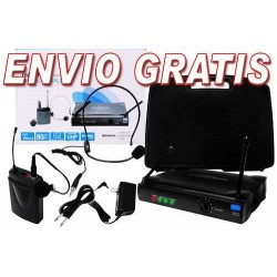 237115-MLM25183050118_112016,Envio Gratis Fabuloso Set De Microfonos De Diadema Y Solapa.