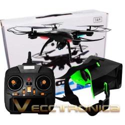 857115-MLM25183061234_112016,Drone Cuadricoptero Giros 360° C/lentes De Realidad Virtual