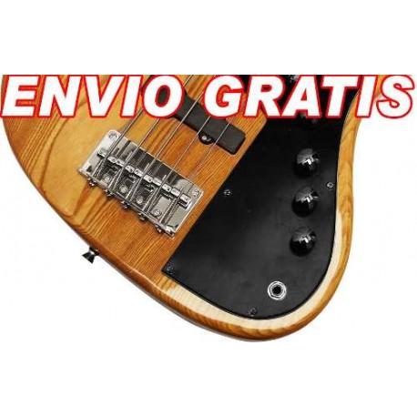 409315-MLM25231197091_122016,Envio Gratis: Bajo De 5 Cuerda De Madera Estilo Vintage Wow