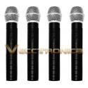 Set De 4 Microfonos Inalambricos+receptor Y Regalos Geniales