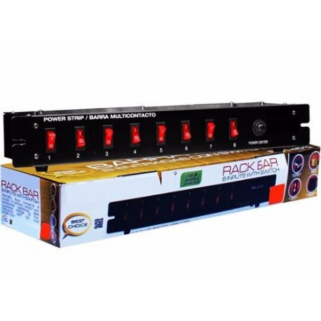 558111-MLM20474199898_112015,Barra Switchera 8 Multicontactos Para Rack O Uso Lineal Woow