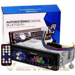 Increible Autoestereo Con Multientradas Y Bluetooth Es Woow
