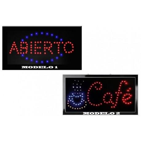 360911-MLM20654603546_042016,Letrero Abierto De Hyper Leds Ecologicos Con Cadena Es Woow.