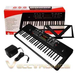 472815-MLM25298460831_012017,Teclado Electronico Musical Con Salida De Audio, Metronomo.