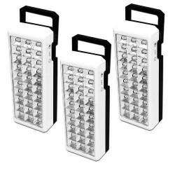 Vecctronica: Pack De 3 Lamparas De Recargables De Emergencia