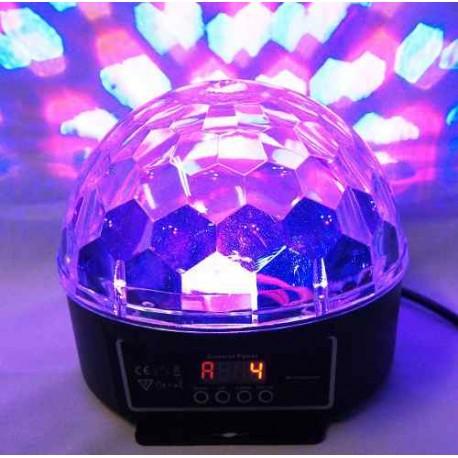 760101-MLM20258954778_032015,Esfera De Luz Led Iluminacion Rgb Dmx 6ch Efecto Disco 150mw
