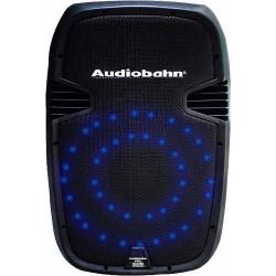 Bafle Recargable De 15 Con Leds Color Azul Audioritmicos.