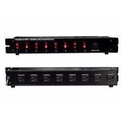 Barra Switchera 8 Multicontactos Para Rack O Uso Lineal Vecc