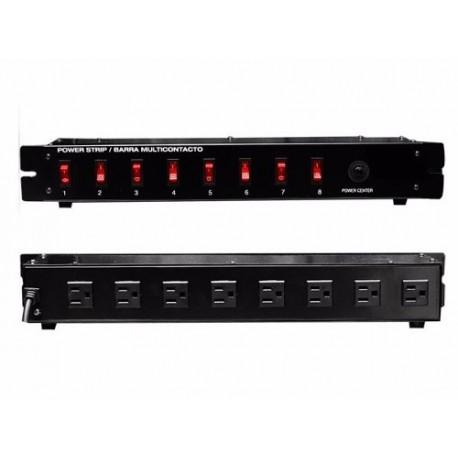 337111-MLM20474199914_112015,Barra Switchera 8 Multicontactos Para Rack O Uso Lineal Vecc