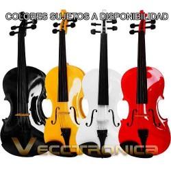 Violin 4/4 En 3 Diferentes Colores Con Padrisimos Regalos.