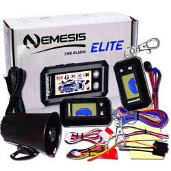 989582-MLM25638891938_062017,Alarma Auto Nemesis Elite Con 2 Controles Lcd + Aditamentos