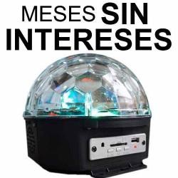 732021-MLM20680103388_042016,Vecctronica: Esfera Luz Disco Con Usb/sd  Bocina Interna Wow