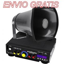 Kit De Perifoneo: Amplificador + 1 Trompeta + plug para encendedor de auto.