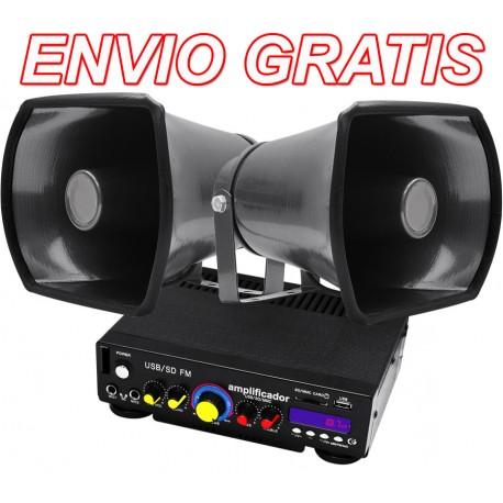644415-MLM25232824355_122016,Envio Gratis: Kit De Perifoneo Trompetas + Amplificaddor Wow