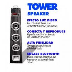 Torre De Sonido Con Esfera De Luz Tipo Disco Bluetoth/fm