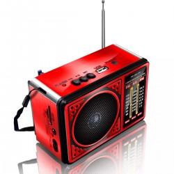 Radio Recargable Am Fm Sw Onda Corta Sd Tf Usb Mp3 Bluetooth