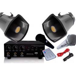 Kit Profesional De Perifoneo 2 Trompetas 2 Microfonos Y Plug